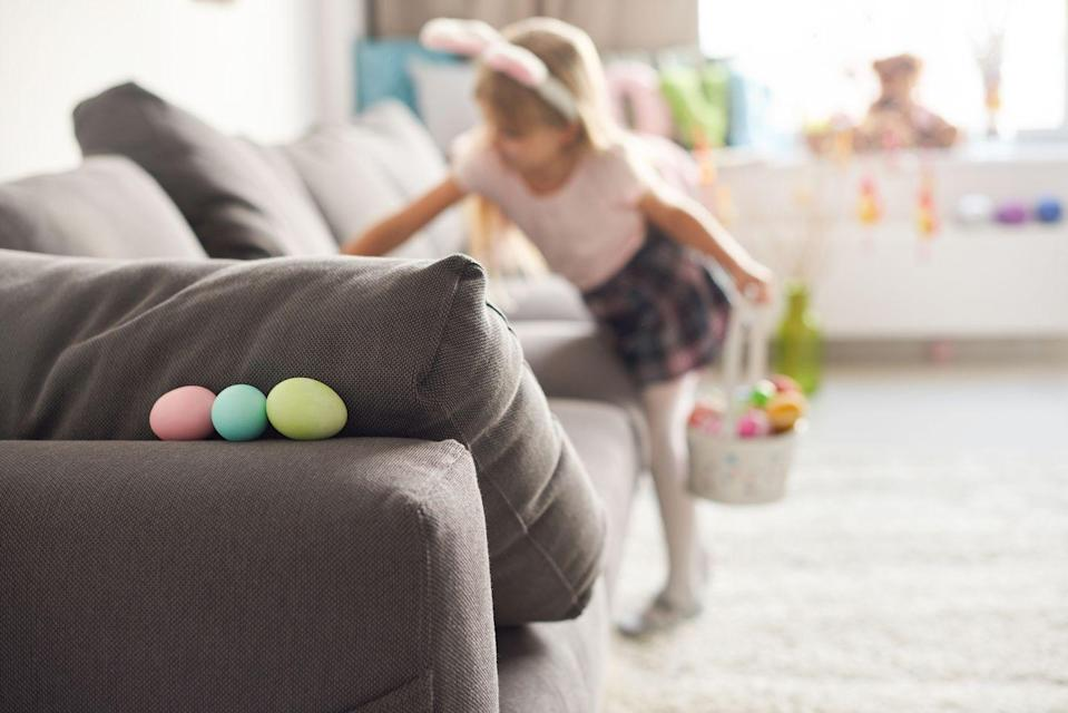 """<p>If you celebrate Easter, finding a socially distanced Easter Egg Hunt (or host one at home) to participate in with the whole family. If that's not an option, choose a few other <a href=""""https://www.womansday.com/home/crafts-projects/g1751/easy-easter-crafts/"""" rel=""""nofollow noopener"""" target=""""_blank"""" data-ylk=""""slk:Easter crafts and activities"""" class=""""link rapid-noclick-resp"""">Easter crafts and activities </a>to do at home.</p>"""