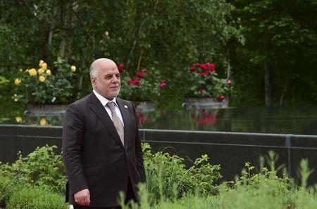 Iraqi Prime Minister al-Abadi arrives for the second working session of the G7 summit at the Elmau castle in Kruen