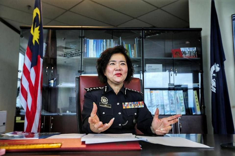 Following on her historical appointment last march, Datuk Dr Lee Bee Phang is the first woman from a Chinese descent to hold the rank of Commissioner of Police (CP) in the Royal Malaysia Police (PDRM). ― Picture by Ahmad Zamzahuri