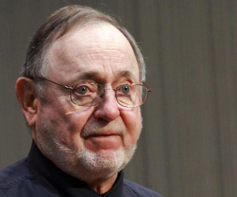 """FILE - In this Oct. 20, 2011 file photo, Rep. Don Young, R-Alaska speaks in Anchorage, Alaska. Young, one of the most senior Republicans in the House, has apologized for using the racial slur """"wetbacks"""" in referring to Hispanic migrant workers. Young, now in his 21st term in the House, said in an interview with Alaska's KRBD radio that when he was young, his father """"used 50-60 wetbacks to pick tomatoes"""" on their California farm.  (AP Photo/Dan Joling, File)"""