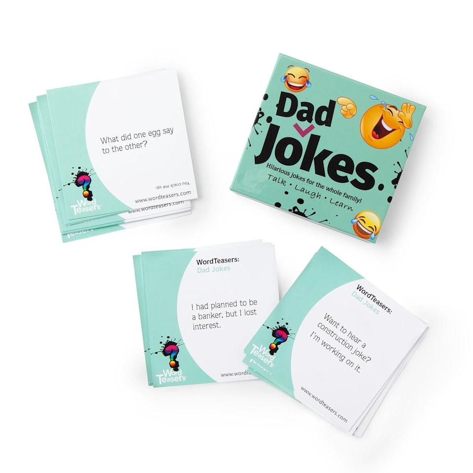 <p>For the guy who embodies the dad joke persona, the <span>Word Teasers- Dad Jokes</span> ($15) is a must.</p>