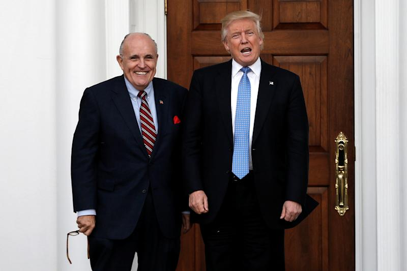 Former New York City Mayor Rudy Giuliani and President Donald Trump. (Mike Segar / Reuters)