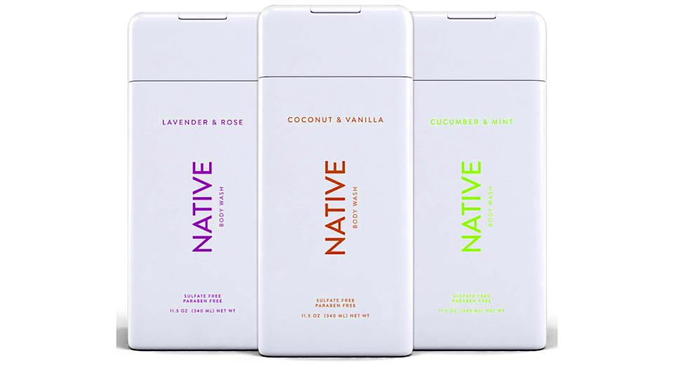 Native Natural Body Wash for Men and Women—3 Pack (Photo: Amazon)