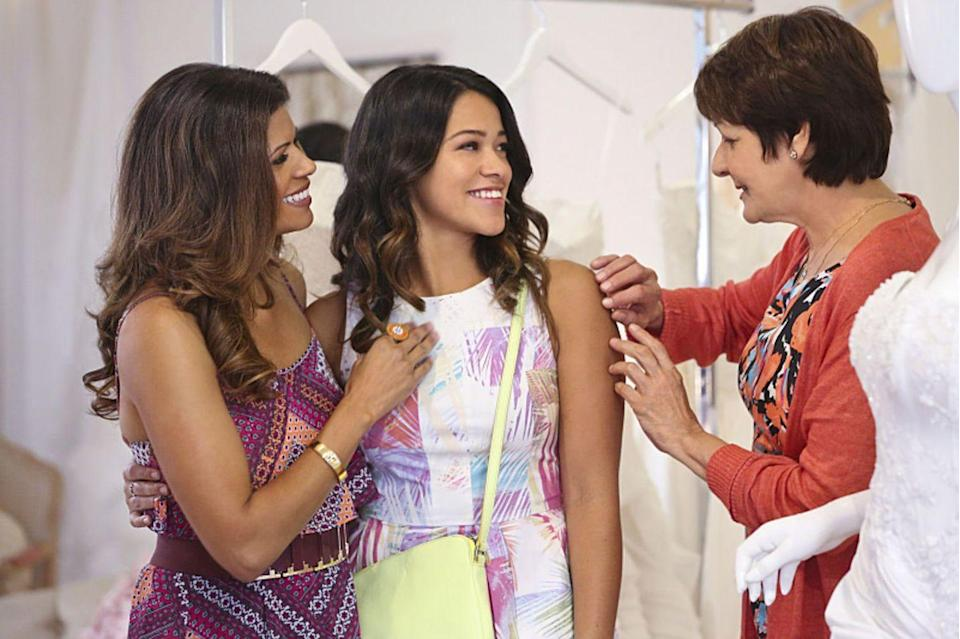 """<p>It may be in English, but this acclaimed CW show is <em>definitely </em>a telenovela. The series is in conversation with the genre's tropes, from shocking plot twists to storylines designed to pull on your heartstrings. The first surprise comes early: Jane (Gina Rodriguez), who is indeed a virgin, gets pregnant because of a mix-up at her gynecologist's office. The series's deep-voiced narrator is our guide to the ensuing plot developments. </p><p><a class=""""link rapid-noclick-resp"""" href=""""https://www.netflix.com/watch/80027158?source=35"""" rel=""""nofollow noopener"""" target=""""_blank"""" data-ylk=""""slk:Watch Now"""">Watch Now</a></p>"""