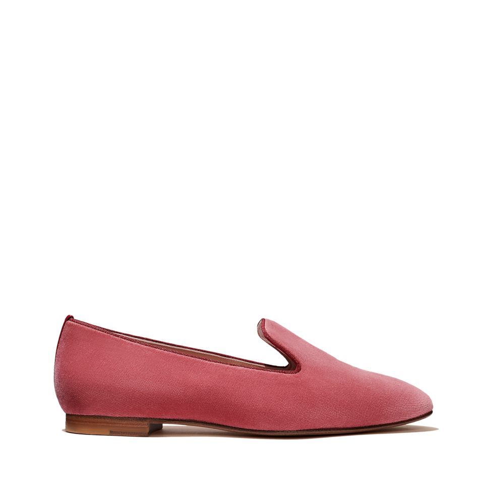 """<p><strong>Gal Meets Glam x Margaux</strong></p><p>margauxsamplesale.com</p><p><a href=""""https://margauxsamplesale.com/collections/frontpage/products/gal-meets-glam-for-margaux-the-loafer"""" rel=""""nofollow noopener"""" target=""""_blank"""" data-ylk=""""slk:SHOP IT"""" class=""""link rapid-noclick-resp"""">SHOP IT </a></p><p><del>$225</del><strong><br>$129</strong></p><p>Julia Berolzheimer of Girl Meets Glam teamed up with Margaux to create a capsule collection of statement shoes. Finished in a pink velvet, these loafers are bound to put a smile on your face.</p>"""