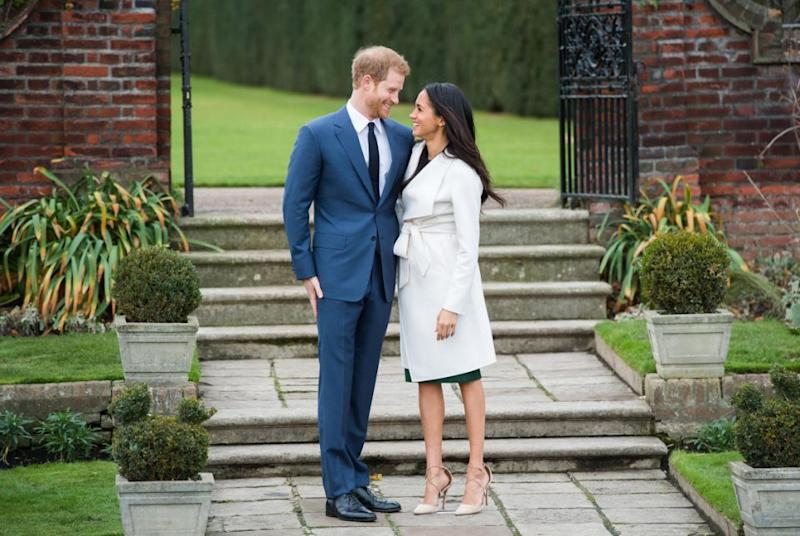 The couple were reportedly forced to delay their wedding for Harry and Meghan. Photo: Getty