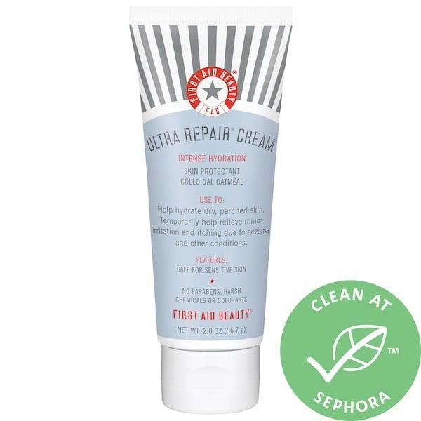 <p>If you have itchy skin, this <span>First Aid Beauty Ultra Repair Cream Intense Hydration</span> ($14) will be your new go-to product. The rich formula is made to relieve itching and also helps soothe skin that suffers from eczema or rashes. Since it's made with shea butter, you can rest easy knowing that your skin barrier is being protected thanks to the vitamins, minerals, and essential fatty acids that are found in the ingredient.</p>