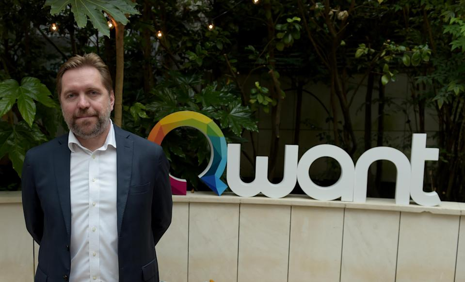 Eric Leandri, CEO of French digital company Qwant poses at the Qwant new headquarters in Paris on June 14, 2018. - French Economy Minister and Minister of State for the Digital Sector visited the Qwant new headquarters on June 14, 2018 in Paris. (Photo by ERIC PIERMONT / AFP) (Photo credit should read ERIC PIERMONT/AFP via Getty Images)