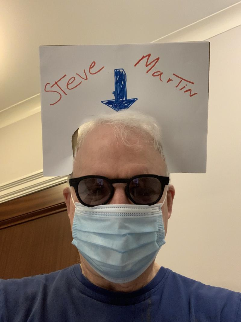 steve martin face book sign trick