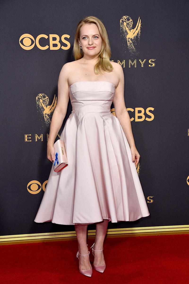 Actor Elisabeth Moss attends the 69th Annual Primetime Emmy Awards.