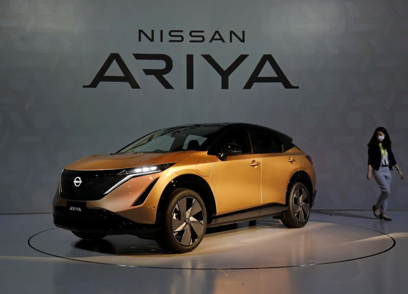 Nissan bets on new Ariya electric SUV to symbolize its revamp, but sales plans modest