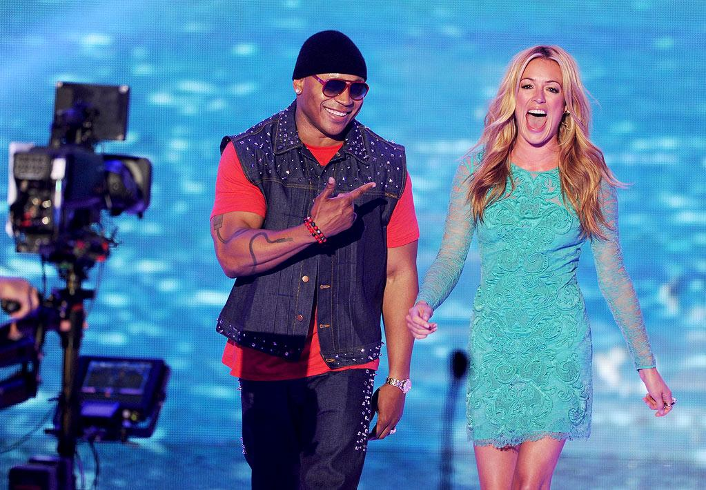 """WORST: Hissy Fits — Our personal idea of hell is thousands of teenagers having hissy fits all at once, but that's exactly what the Teen Choice Awards decided to gift us with last night. Presenters Cat Deeley and LL Cool J had one half of the stadium scream """"You don't get it,"""" and the other half, """"Get out of my room."""" It was cringeworthy, a real are-they-really-putting-us-through-this moment — just so, so bad. Cat and LL had good chemistry and tried to have fun with it, but even they looked like they knew people at home were getting out their earplugs."""