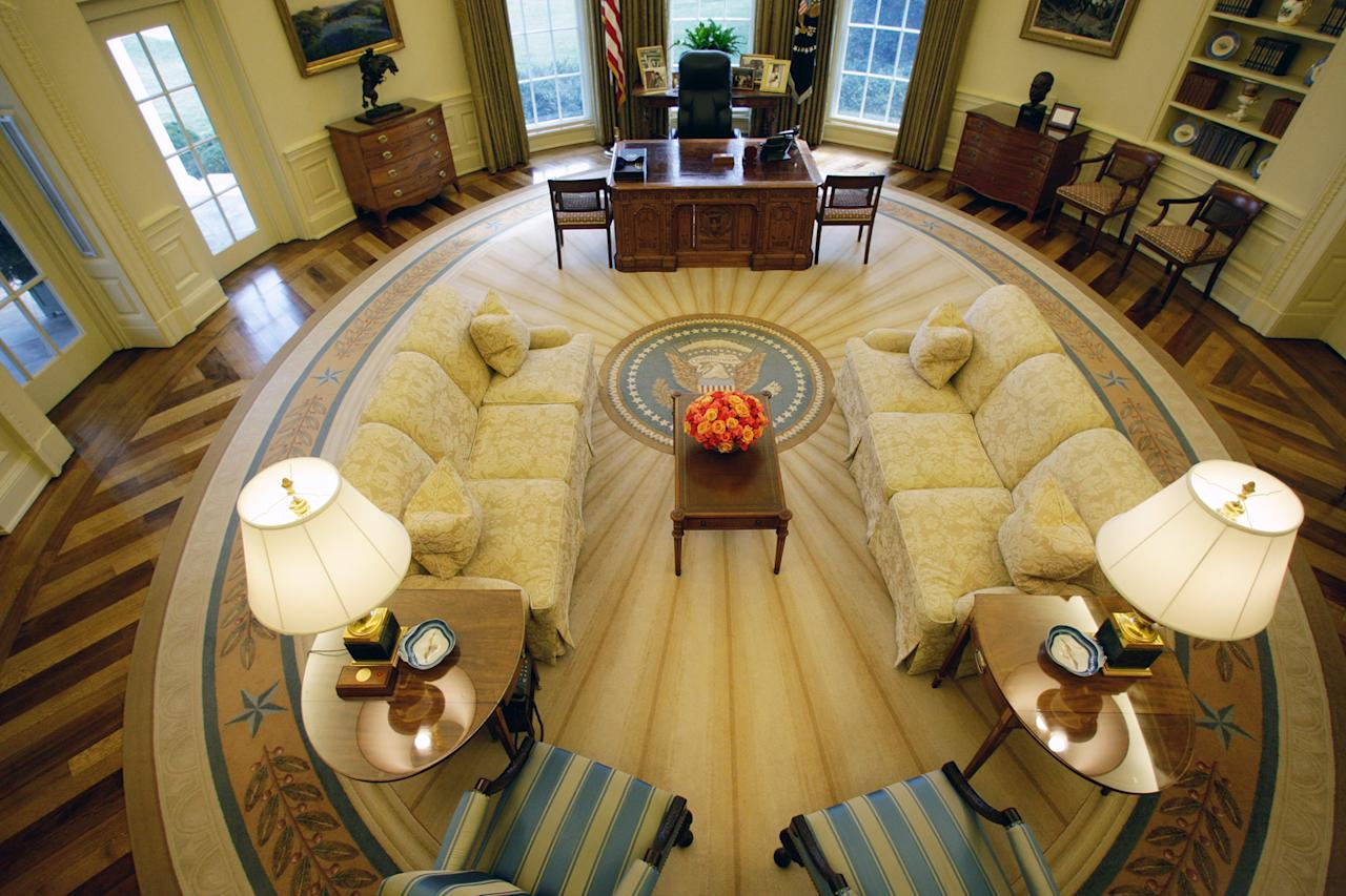 The oval office through the years Oval office decor by president