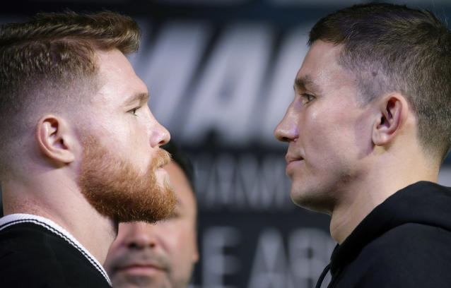 "Canelo Alvarez, left, and Gennady Golovkin will square off in what many boxing experts are calling ""the real"" fight of the year. (AP)"