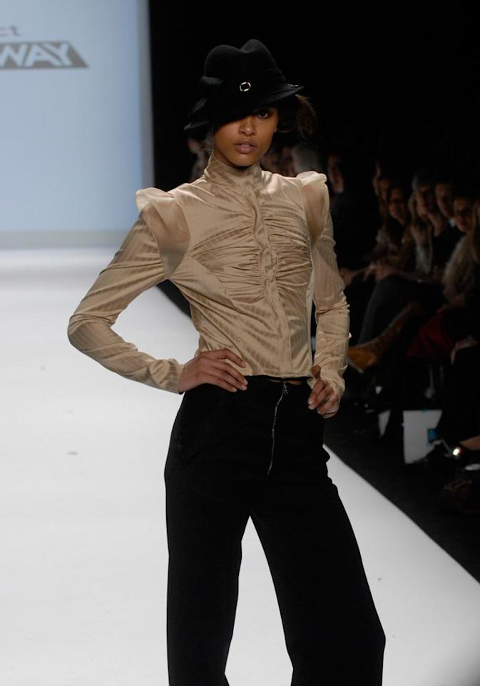 """""""Finale"""" -- Christian shows his collection at Mercedes-Benz Fashion Week in New York on Season 4 of <a href=""""/project-runway/show/36319"""">""""Project Runway""""</a>."""