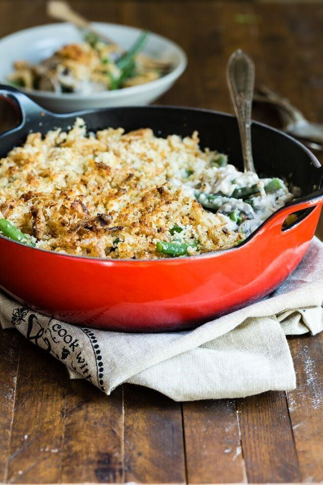 """<p>If you're having a small Thanksgiving gathering this year, this green bean casserole recipe for two has just the right amount of food you need. You can dig into the other courses after you nosh on this casserole without being too full for dessert.</p> <p><strong>Get the recipe</strong>: <a href=""""https://www.culinaryhill.com/green-bean-casserole-for-two/"""" class=""""link rapid-noclick-resp"""" rel=""""nofollow noopener"""" target=""""_blank"""" data-ylk=""""slk:green bean casserole for two"""">green bean casserole for two</a></p>"""