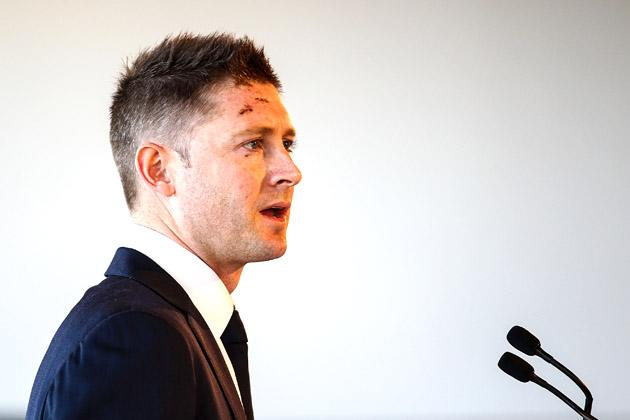 SYDNEY, AUSTRALIA - OCTOBER 15:  Australian Cricket captain Michael Clarke speaks during the Cricket Australia season launch at Museum of Contemporary Art on October 15, 2012 in Sydney, Australia.  (Photo by Mark Nolan/Getty Images)