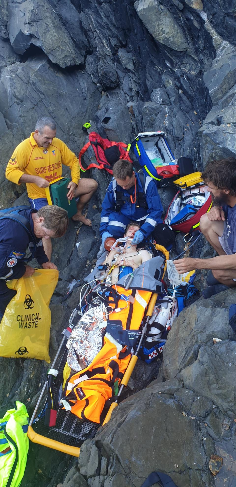 Kim Goodrick said her son almost died after he fell where there were no guard rails at Cape Byron Lighthouse. Source: Supplied/Kim Goodrick