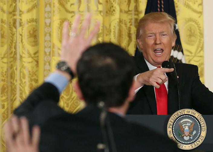 Mr Trump's love-hate relationship with the media has been a feature of his presidency: Getty