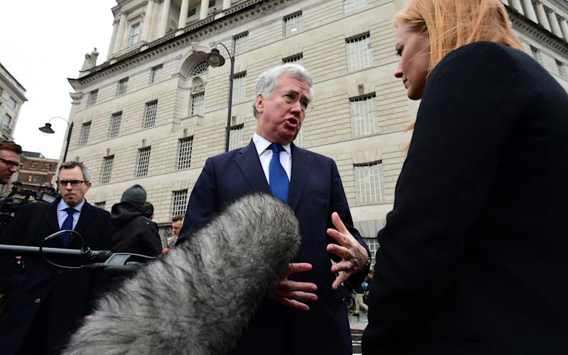 Sir Michael Fallon speaking in Westminster on Thursday morning - Credit: Geoff Pugh for the Telegraph