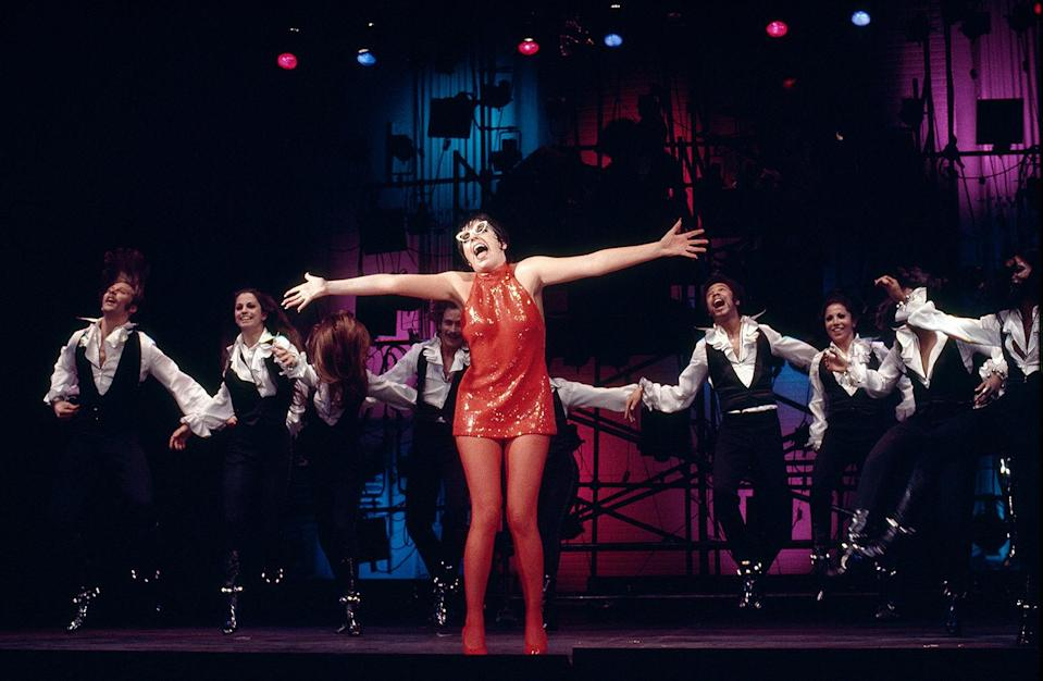 <p>Minnelli looked incredible in a red sequin number while performing in the 1972 concert film, <em>Liza with a 'Z.' </em>She would go on to win an Emmy for outstanding variety special for the performance. </p>