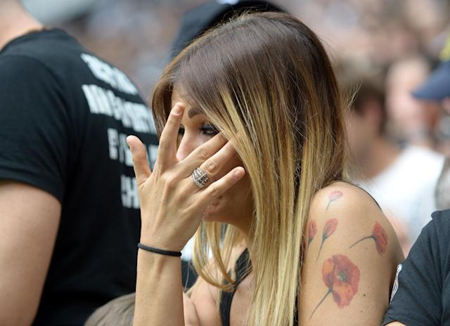 Soccer Football - Serie A - Juventus vs Hellas Verona - Allianz Stadium, Turin, Italy - May 19, 2018 Juventus fan reacts before the match REUTERS/Massimo Pinca