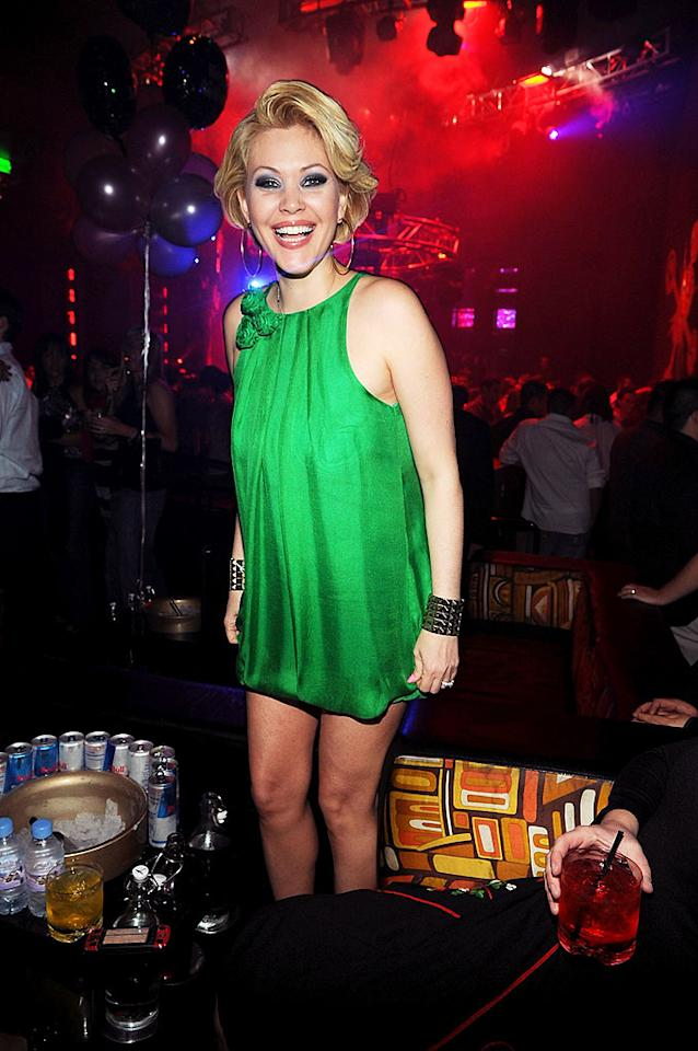 "Shanna Moakler would be red with embarrassment if she sat down in her green micro mini! Denise Truscello<a href=""http://www.wireimage.com"" target=""new"">WireImage.com</a> - January 23, 2009"