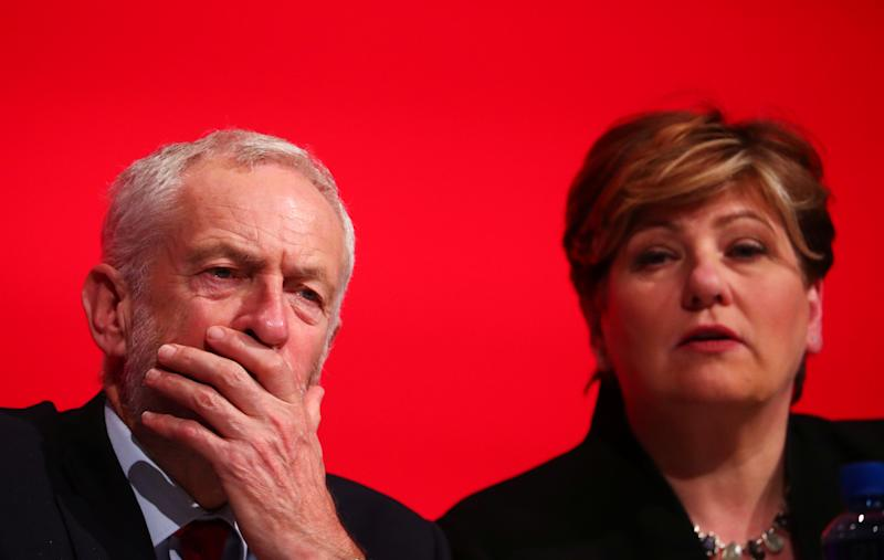 Labour Party leader Jeremy Corbyn and Emily Thornberry