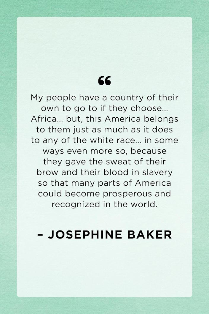 <p>Entertainer Josephine Baker gave this speech in St. Louis, MO on February 3, 1952. In the speech, she criticizes how approval from white people was actively sought out.</p>