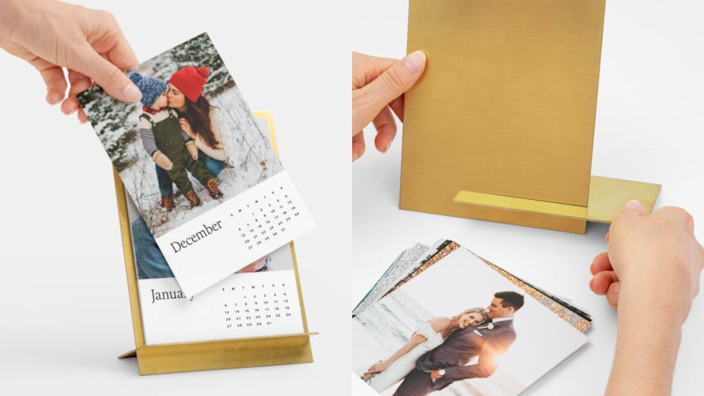 Best photo gifts of 2020: Brass Easel & Calendar