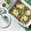 """<p>Instead of fish and chips, why not try this light spring supper, packed with goodness. Make sure you use MSC-certified fish.</p><p><strong>Recipe: <a href=""""https://www.goodhousekeeping.com/uk/food/recipes/a35848749/seaside-traybake/"""" rel=""""nofollow noopener"""" target=""""_blank"""" data-ylk=""""slk:Seaside Traybake"""" class=""""link rapid-noclick-resp"""">Seaside Traybake</a></strong></p>"""