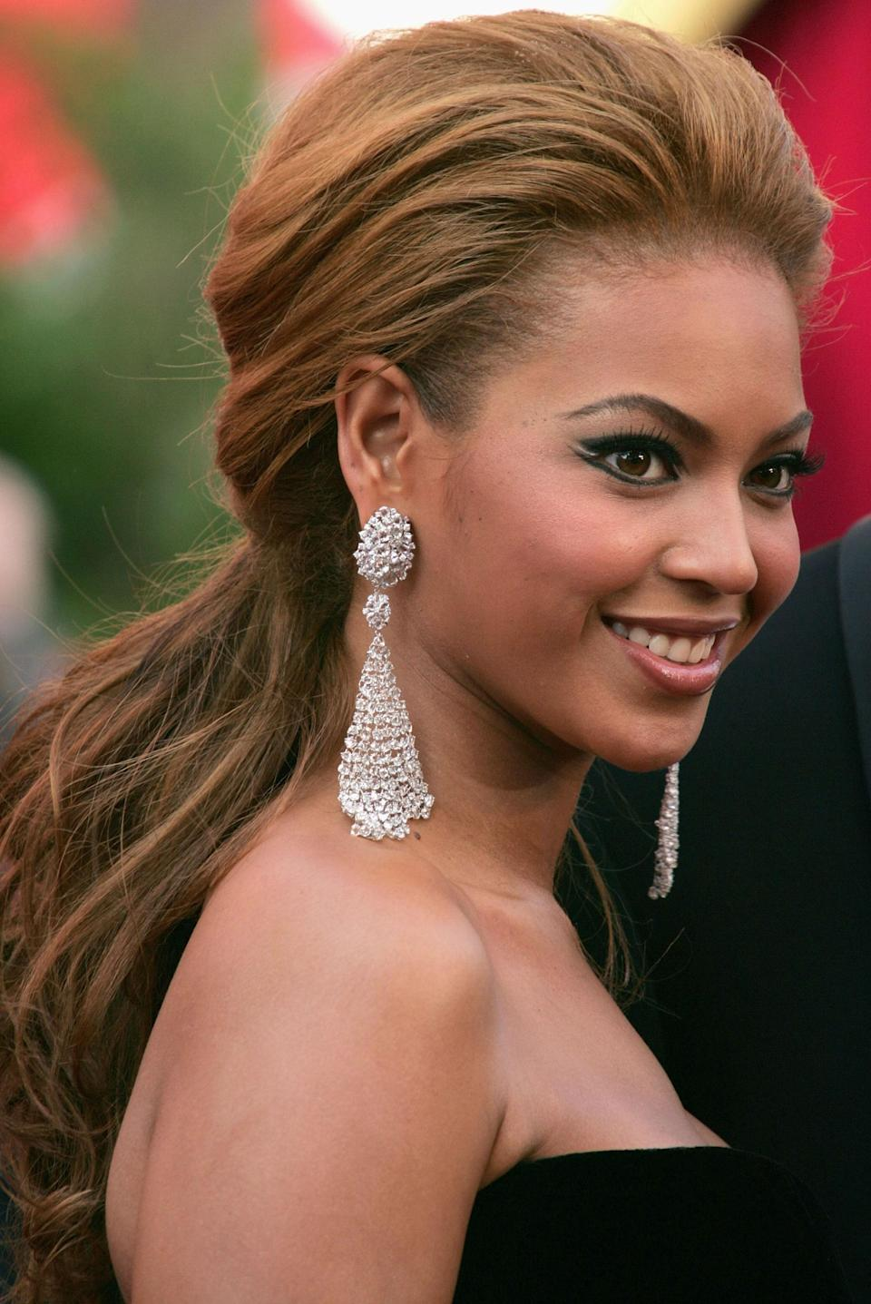 The ongoing collaboration between Beyoncé and Lorraine Schwartz has resulted in several memorable red carpet moments, but none more impactful than the 2005 debut of Schwartz's diamond mesh earrings. A unique concept that merged sparkle and movement into dynamic jewelry, variations on the look have since been worn by everyone from Chrissy Teigen to Rita Ora.