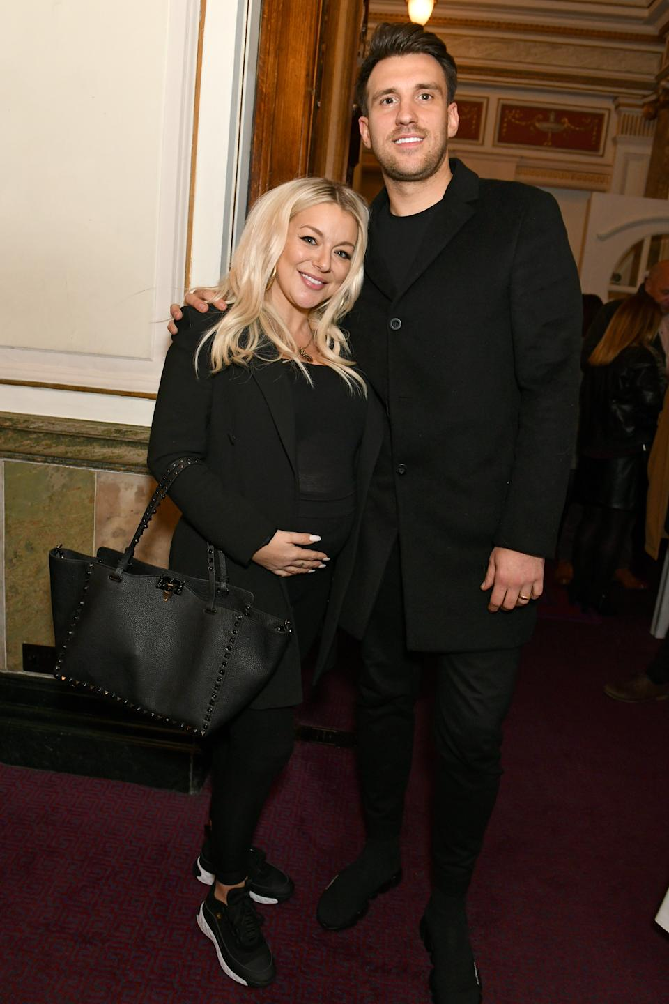 """Sheridan Smith and Jamie Horn attend the Gala Charity Concert of """"The Pirate Queen"""" in aid of Leukaemia UK at The London Coliseum on February 23, 2020 in London, England.  (Photo by David M. Benett/Dave Benett/WireImage)"""