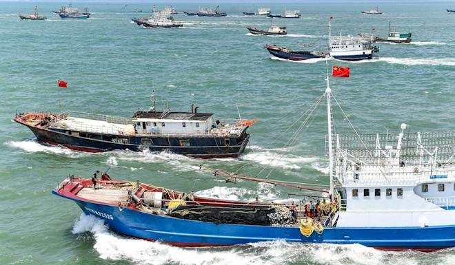 Chinese fishing boats set sail for the South China Sea. Photo: Getty Images