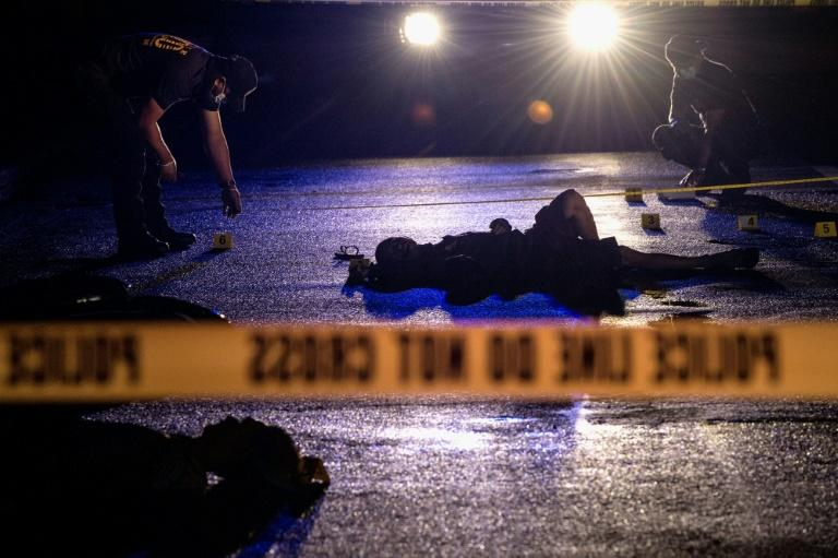 A Manila crime scene where two alleged drug dealers were gunned down by unidentified men in October