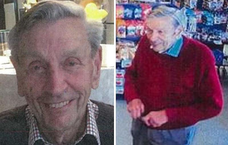 Police are searching for Ronald McMaster, a 95-year-old Victorian man believed to be driving across the NSW border. Source: Victoria Police