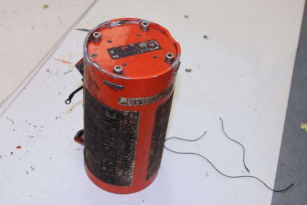 PHOTO: Pictured in this image is one of the two black box flight recorders recovered from the site of the FlyDubai Boeing 737-800 plane crash, in Russia, March 20, 2016. (TASS via Getty Images, FILE)