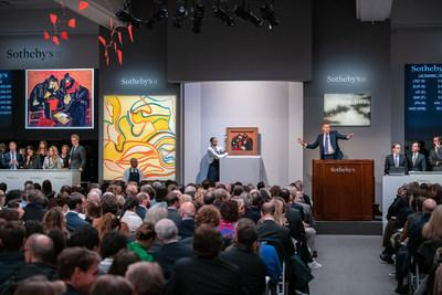 Today, Sotheby's concluded a week of worldwide auctions held across our New York, Geneva, London, Paris salerooms and online, with 1,675 lots sold over twelve auctions for a total of $1 billion. From 20th- and 21st-century art to magnificent jewels and rare watches, auction history was made throughout the week and around the globe.