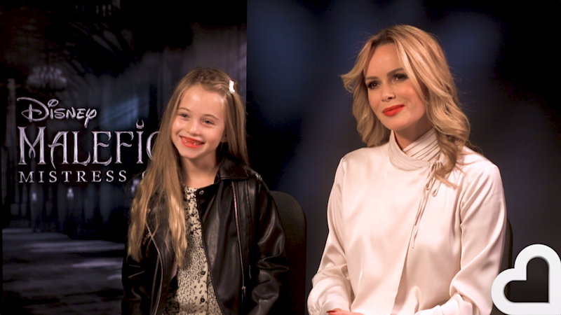 Cub reporter: Hollie had the chance to chat with Jolie and Fanning (Heart Radio)