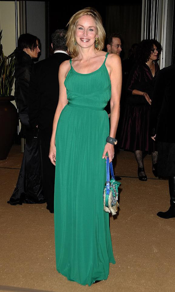 "<a href=""http://movies.yahoo.com/movie/contributor/1800012230"">Sharon Stone</a> attends the 2nd Annual AMPAS Governors Awards in Los Angeles on November 13, 2010."