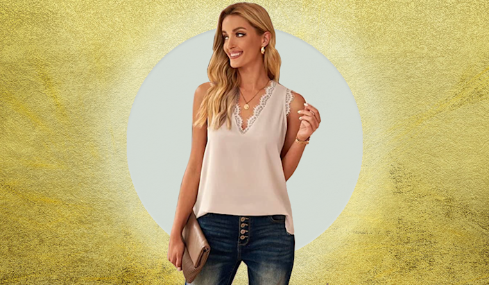 Top off your wardrobe with this lovely blouse. (Photo: Amazon)