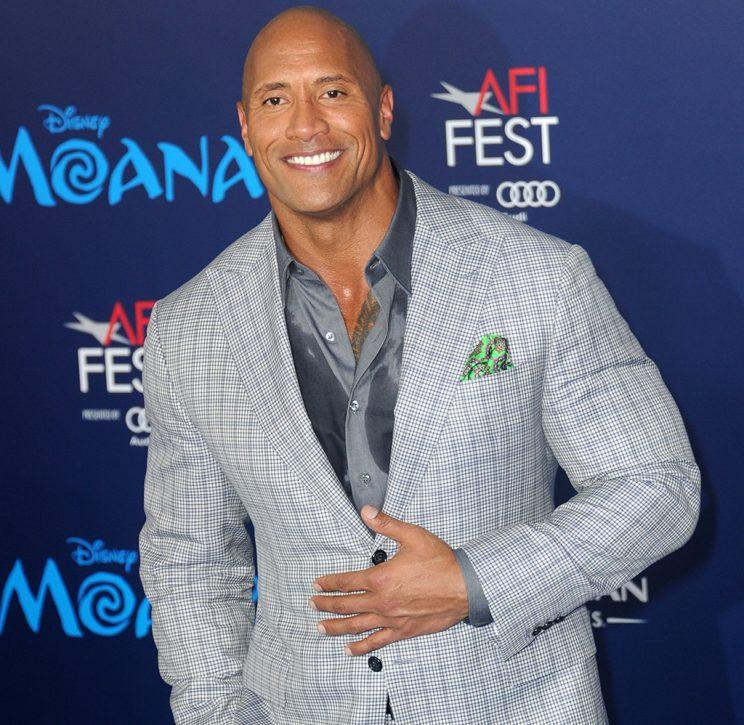 Dwayne Johnson arrives for the AFI FEST 2016