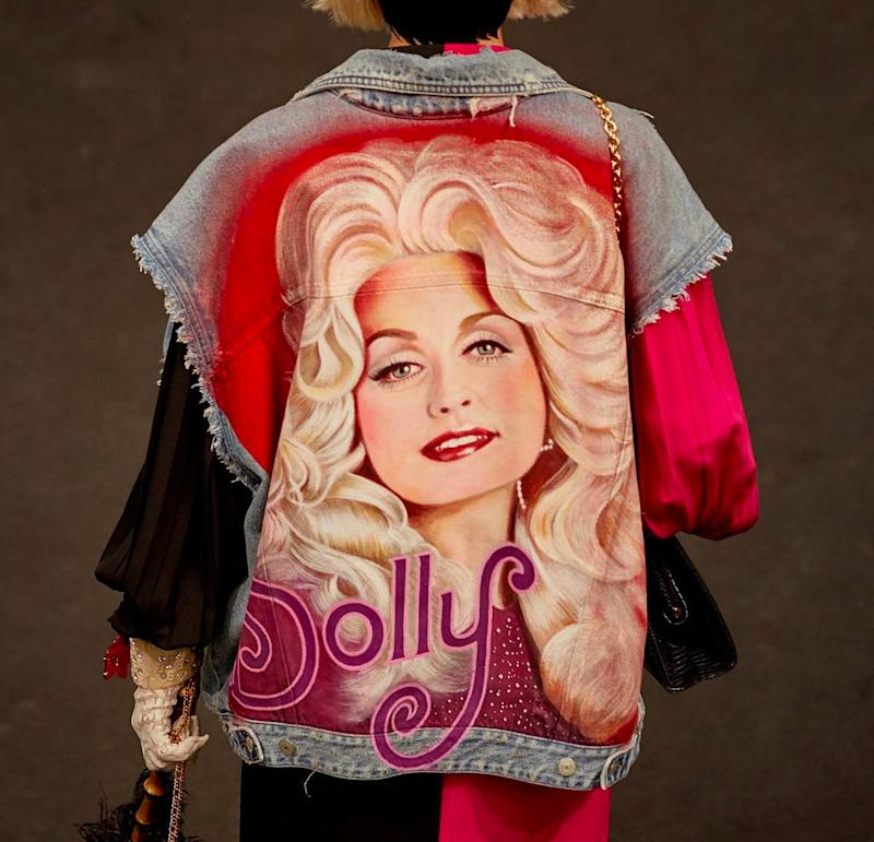 Please Look At This Incredible Gucci Jacket With Dolly Partons Face