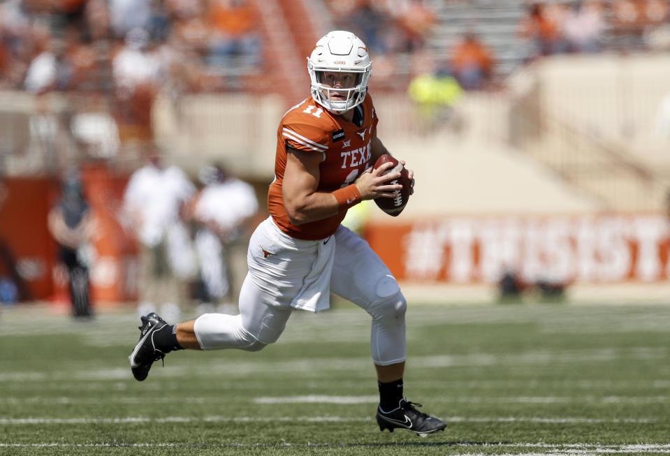 Sam Ehlinger of the Texas Longhorns