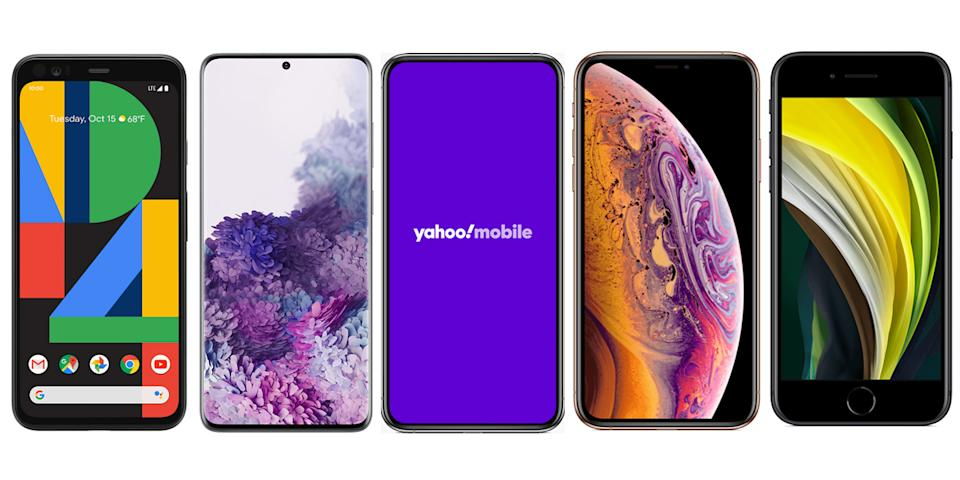 Choose from a slew of new devices when you sign up for Yahoo! Mobile—or being your own phone. (Photo: Yahoo! Mobile