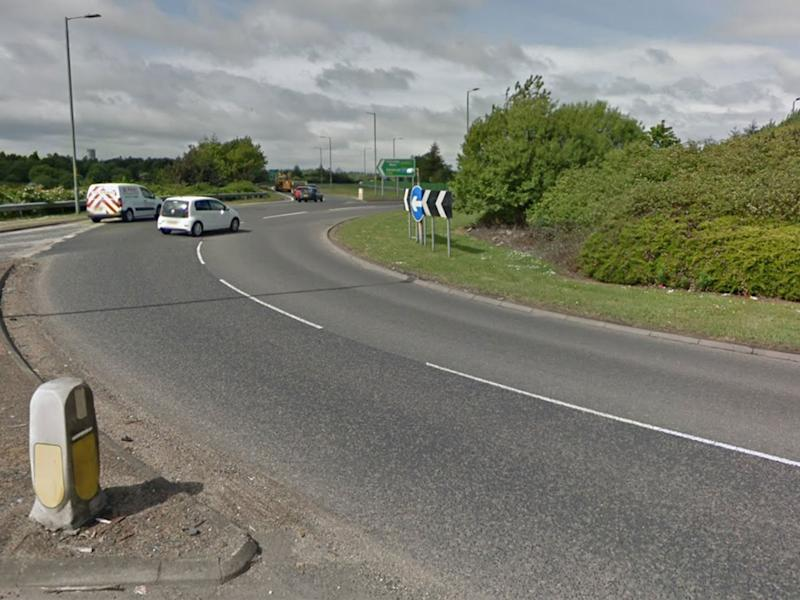 The brawl is thought to have broken out after two cars rammed each other at Redhouse Roundabout in Fife: Google
