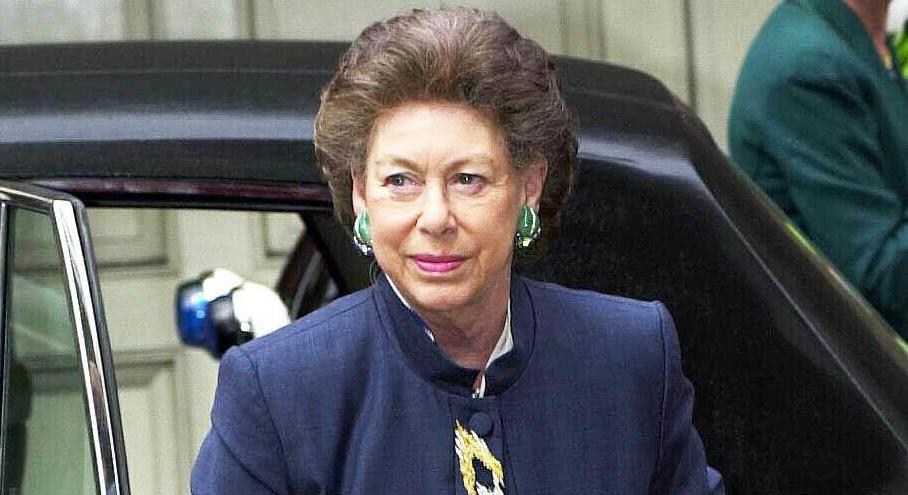 Princess Margaret arrives at Founders' Hall, City of London, for a lunch organised by the Court of Assistants of the Worshipful Company of Haberdashers, where she is being made a Liveryman of the Company.
