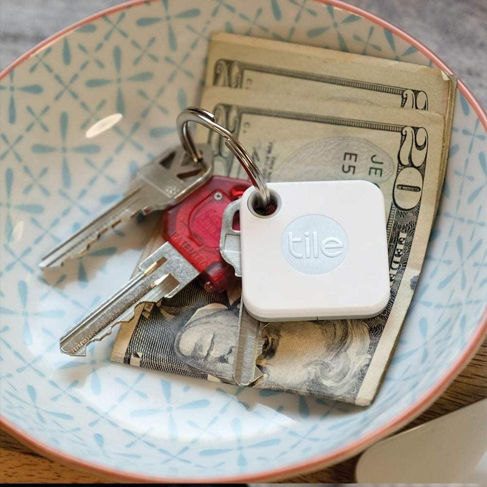 <p>They'll never lose their keys again with this <span>Tile Mate</span> ($25) that pairs with a downloadable app. They make for the perfect stocking stuffer.</p>