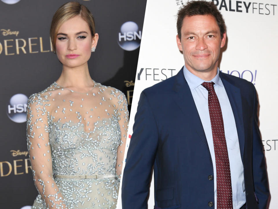 Lily James und Dominic West sollen sich in Rom näher gekommen sein. (Bild: [M] Featureflash Photo Agency/Debby Wong/Shutterstock)