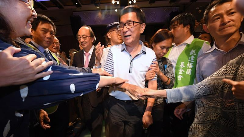 Taiwan's former president Chen Shui-bian calls for island to vote on whether it wants to be part of China